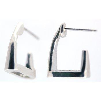 Sterling Silver Stirrup Earrings