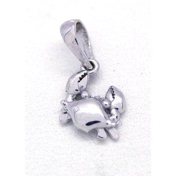 White Gold Crab Pendant