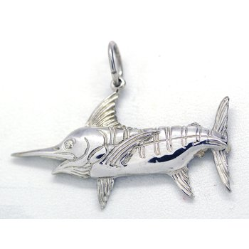 Sterling Silver Marlin Pendant