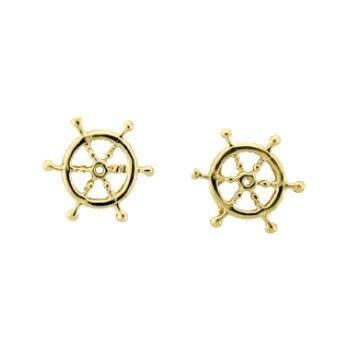 Ship'S Wheel Earrings
