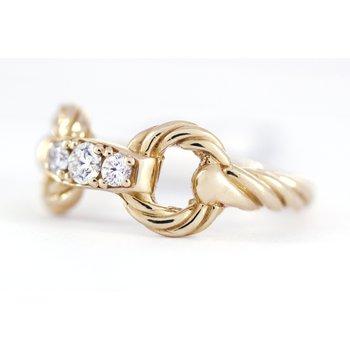 Diamond and Yellow Gold Horse Bit Ring