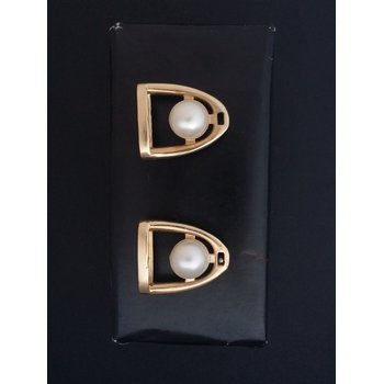 Pearl Stirrup Earring