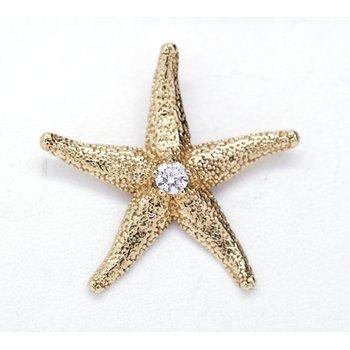 14K Starfish Pendant