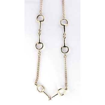 Yellow Gold Horse Bit Necklace