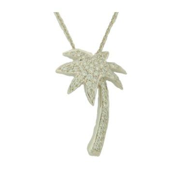14Kt Diamond Palm Tree Pendant