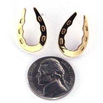 Gold Horseshoe Earrings