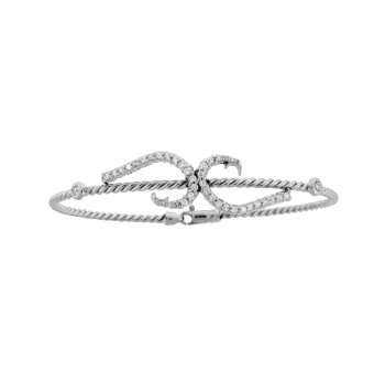 Diamond Hook Bangle Bracelet