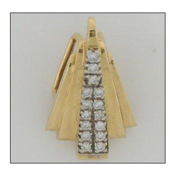 14K Gold Slide Pendant With 00.56 Twt Diamond