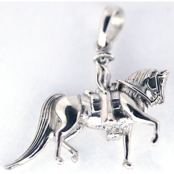 Sterling Silver Western Horse Pendant