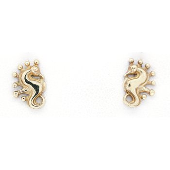 Yellow Gold Seahorse Earrings