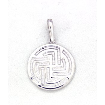 Large Sterling Silver Centre Point Stable Pendant