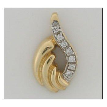 14K Gold Slide With 00.20 Twt Diamond