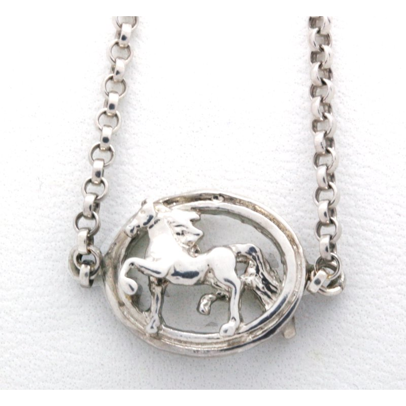 Equestrian Jewelry Sterling Silver Horse Anklet