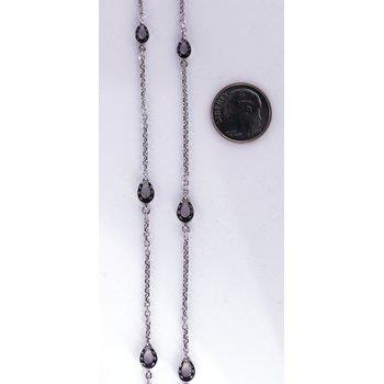 White Gold, Stationary, Horseshoe Necklace