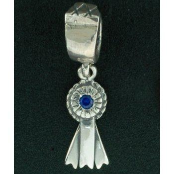 Blue Ribbon Pandora Type Bead