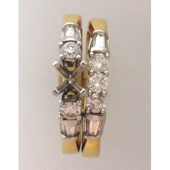 14Kt Yellow Gold Diamond Wedding Set