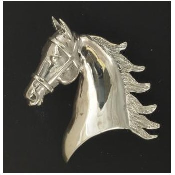 Large Satin Driving Horse Head Pendant