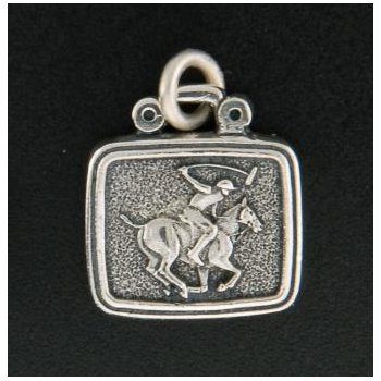 Polo Horse With Rider Plaque Charm