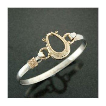 14 Karat Driving Collar Clasp Complete With Lestage Bracelet