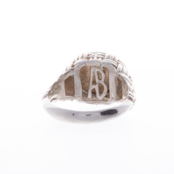 Basket Weave 14 kt and Sterling Silver Starfish Ring