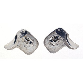 Sterling Silver Horse Saddle Earrings