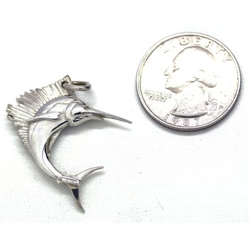 Sterling Silver Sailfish Pendant