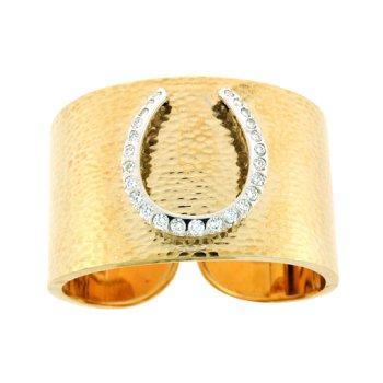 Hammered Cuff Horseshoe Bracelet