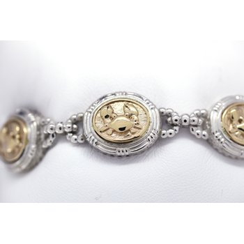 Two Tone Crab Bracelet
