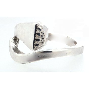 Sterling Silver Nail Head Ring