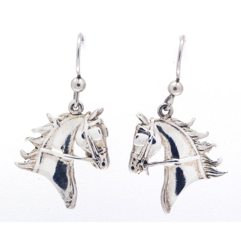 HKM Horse Head Earrings 925 Silver