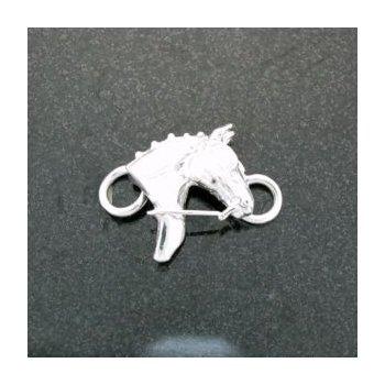 Sterling Driving Horse Head Clasp For Lestage Bracelet