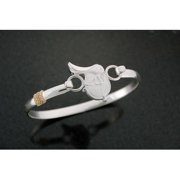 Lestage 7 Bangle Bracelet With Saddle Clasp
