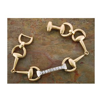 14 Karat Gold D-Bit Diamond Bracelet