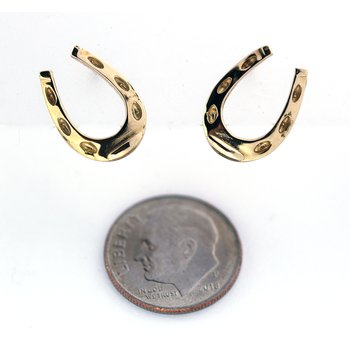 Yellow Gold Horseshoe Earrings