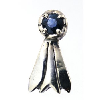 Sapphire and White Gold BlueRibbon Pin