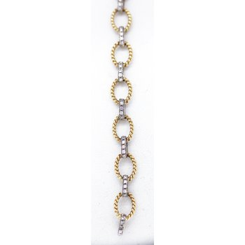 Two Tone, Diamond Bracelet