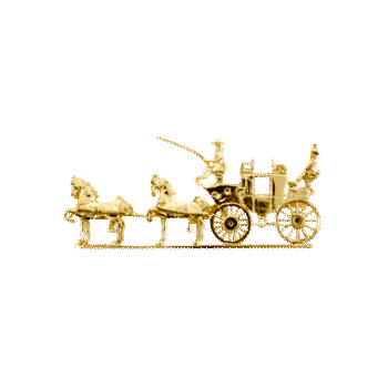 Horse And Carriage Brooch