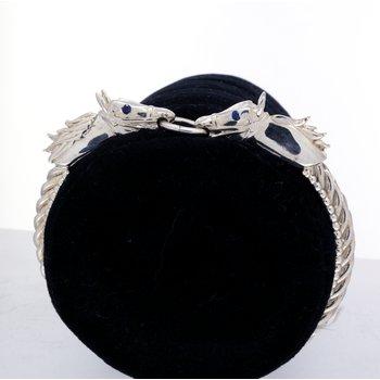Sterling silver, kissing horse bracelet