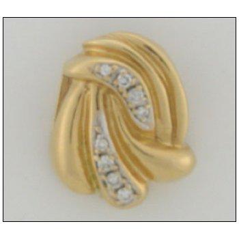 14K Gold Slide With 00.21 Twt Diamond