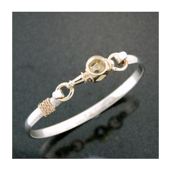 14 Kt Carriage Lamp Clasp Complete With Bracelet