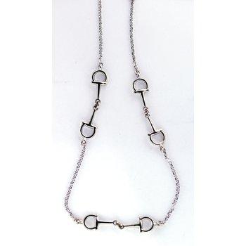 White Gold Horse Bit Necklace