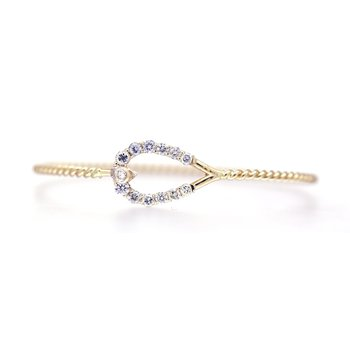 Diamond and Yellow Gold Horseshoe Bracelet