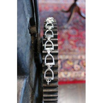 Sterling silver horse stirrup bracelet