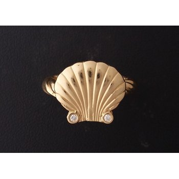 Yellow Gold Shell Ring