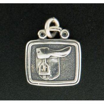 English Saddle Plaque Charm