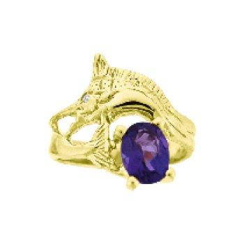 Amethyst Marlin Ring