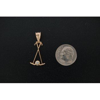 Polo Mallets Pendant With Diamond