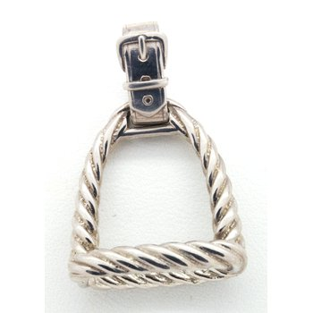 Sterling Silver Twisted Horse Stirrup Pendant
