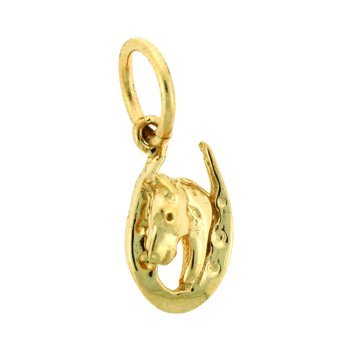Horse And Horseshoe Charm