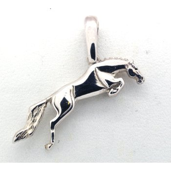 Sterling Silver Jumping Horse Pendant
